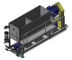 Typical beltdrive PC pump dewatering skid.