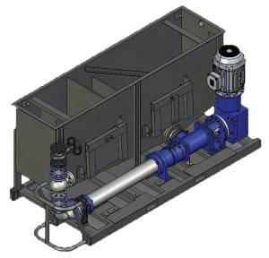 Typical directcoupled PC pump dewatering skid.